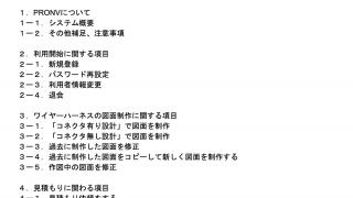 PRONVマニュアル動画作成中